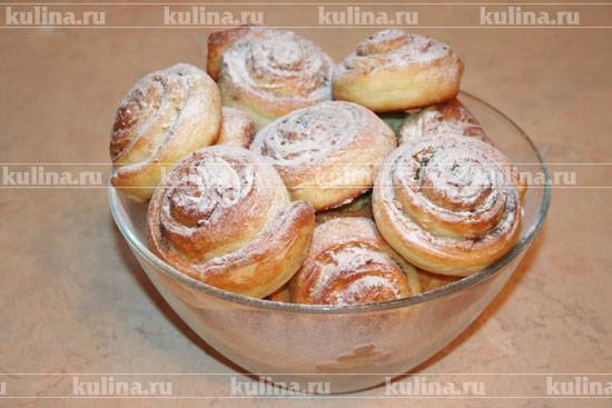 Рогалики с сахаром и корицей рецепт с фото