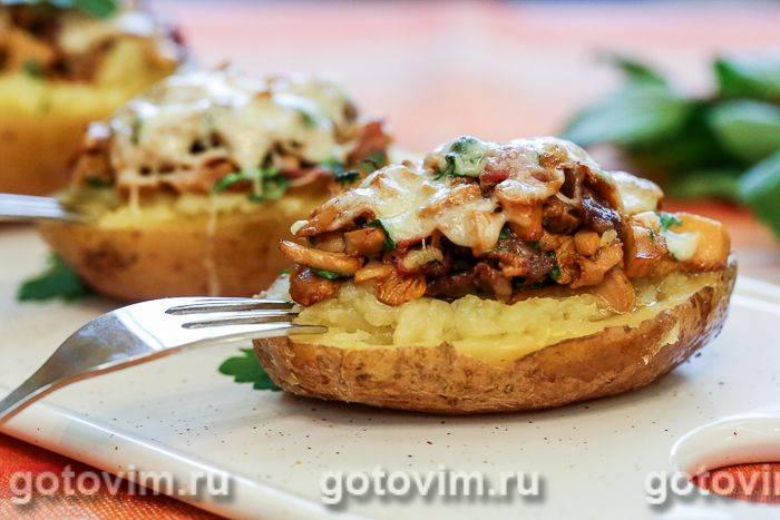 Фаршированный картофель в духовке с фаршем