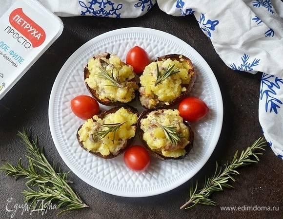 Лодочки картофельные с мясом