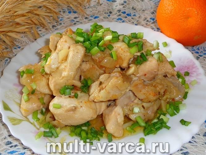 Готовим вкусненькое куриное филе в сливочном соусе в мультиварке