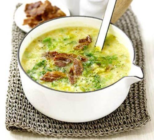Быстрый картофельный суп с овощами и мясом