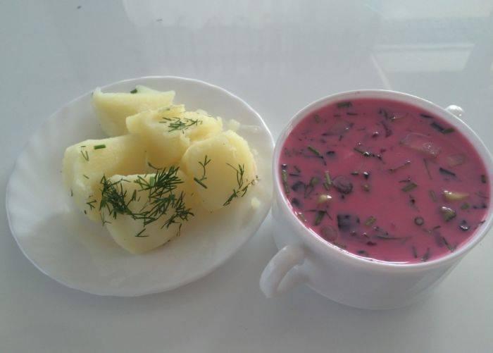Ингредиенты для холодного борща