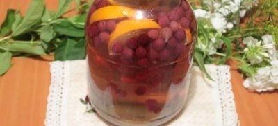 Компот из черемухи на зиму с яблоками, лимонной кислотой и малиной