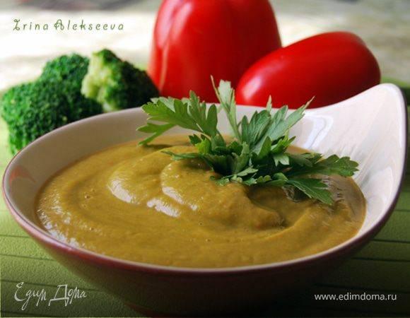 Суп-пюре с болгарским перцем и томатом рецепт с фото