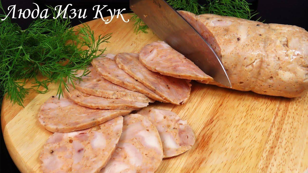 Куриная колбаса в пароварке