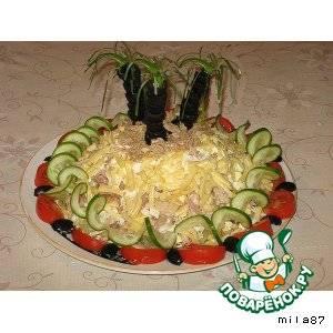 """Салат """"банановый остров"""""""