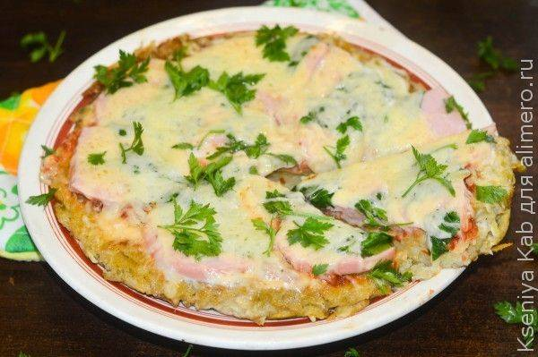 Картофельная пицца с грибами в духовке