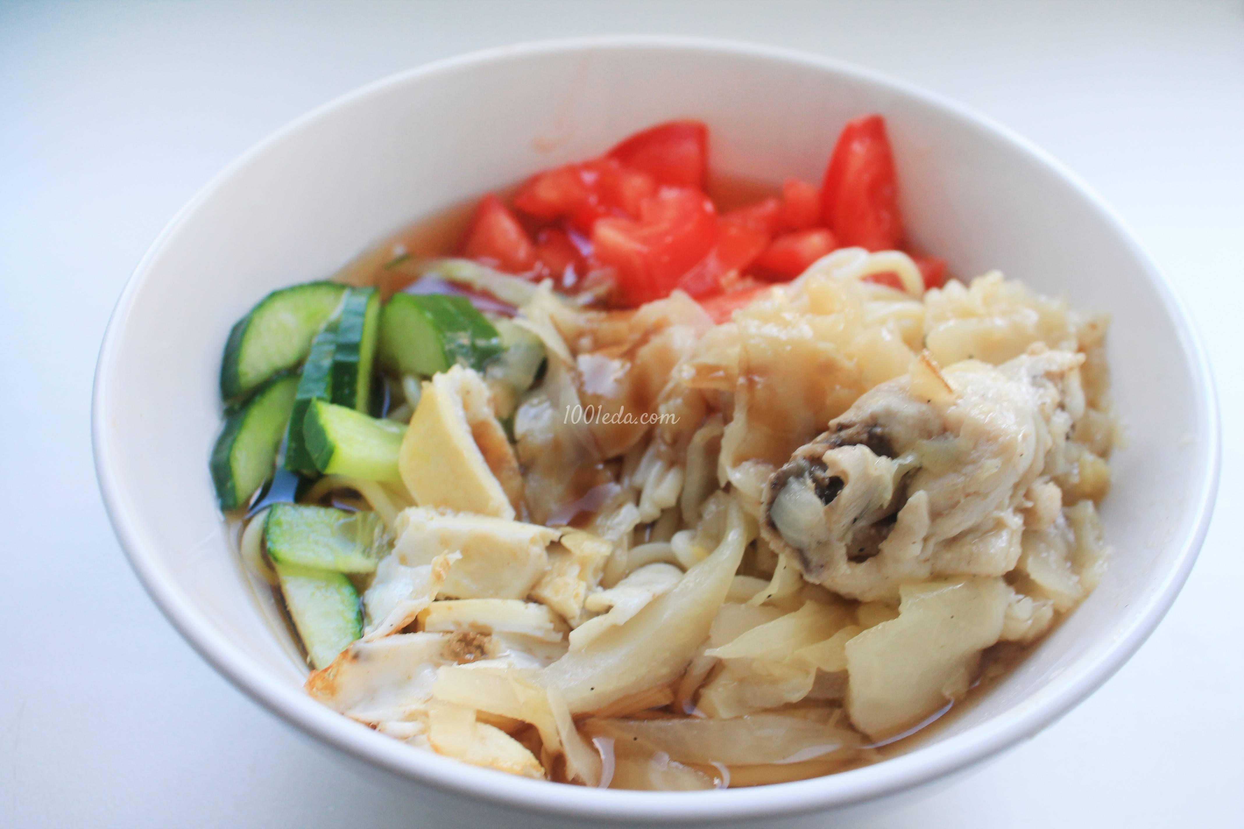 Холодный суп из свежих овощей