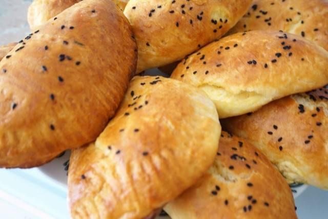 Пирожки с сыром на сырном тесте
