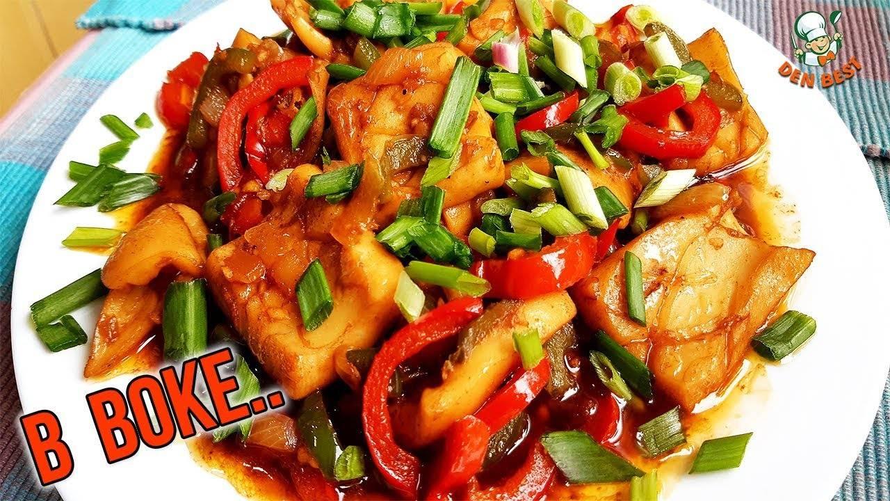 Кальмары   в   китайском   соусе   с   грибами   шиитаки