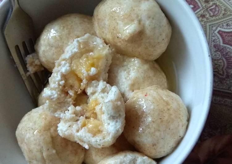 Ленивые вареники с творогом, бананом и тыквой - 7 пошаговых фото в рецепте