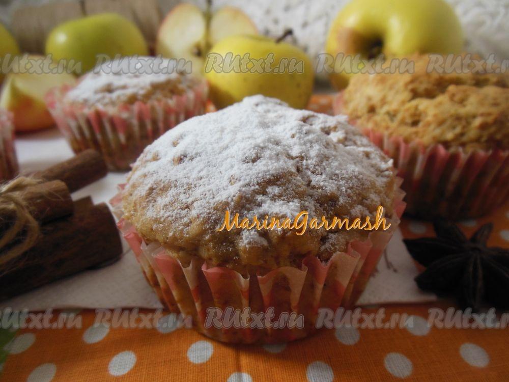 Кексы с яблоком и изюмом