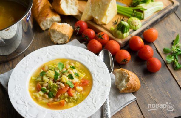 Сырный суп с шампиньонами и цветной капустой