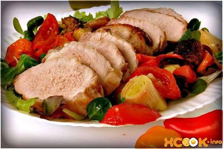 Свинина с овощами в духовке - рецепт с фото