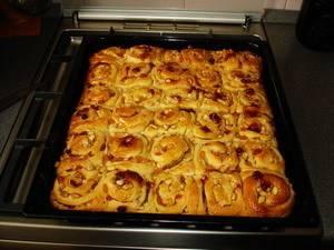 Пирог с яблоками, изюмом и рисом