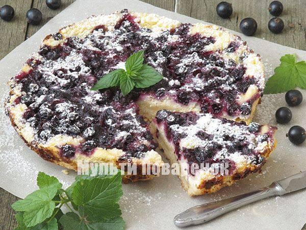 Пирог с ягодами в мультиварке – ароматная выпечка. рецепты пирога с ягодами в мультиварке: открытый, бисквитный, слоеный, песочный
