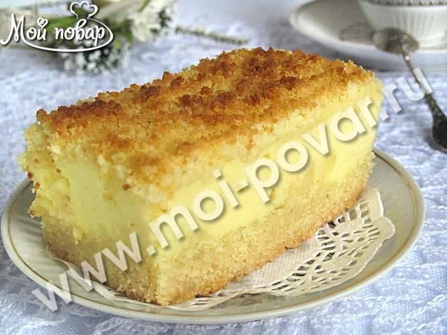 Рецепт: пирог крошка с творогом