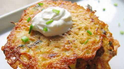 Пошаговый рецепт приготовления картофельных блинов