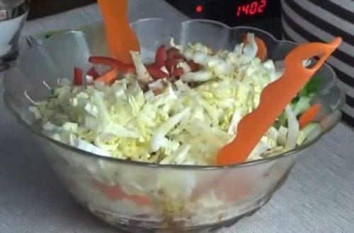 Салат из пекинской капусты и болгарского перца - 9 пошаговых фото в рецепте