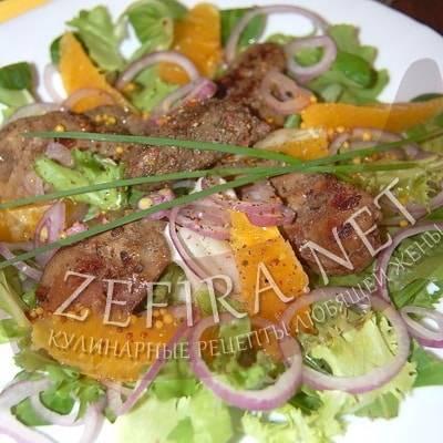 Теплый салат с куриной печенью - вкусные и сытные рецепты для любого случая!