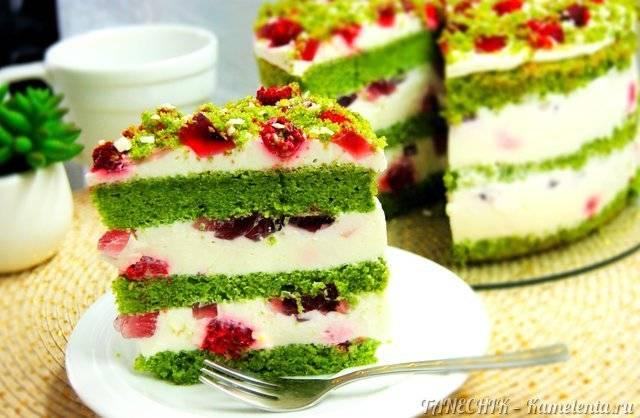 Арбузный торт с фруктами