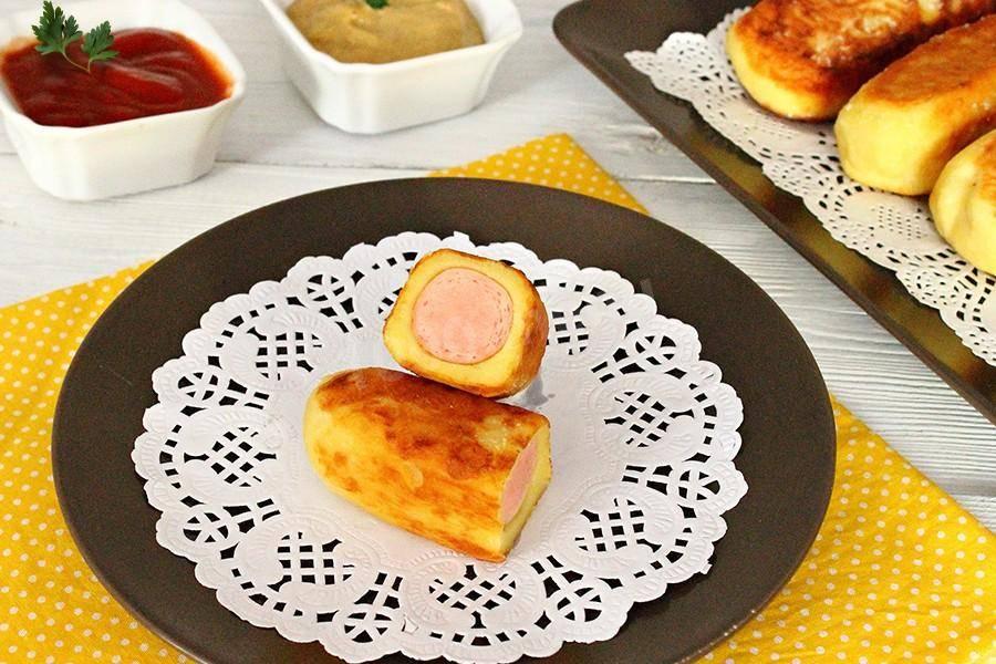 Сосиски в картофельном тесте, рецепт с фото сосисок в картофельном тесте