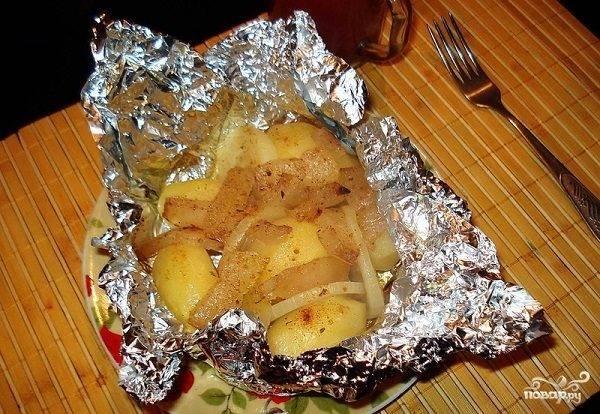 Жареная картошка с салом: рецепт с фото