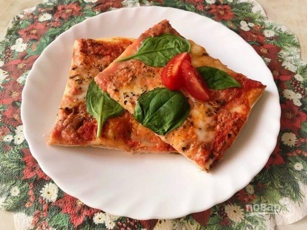 Пицца с сыром рикотта