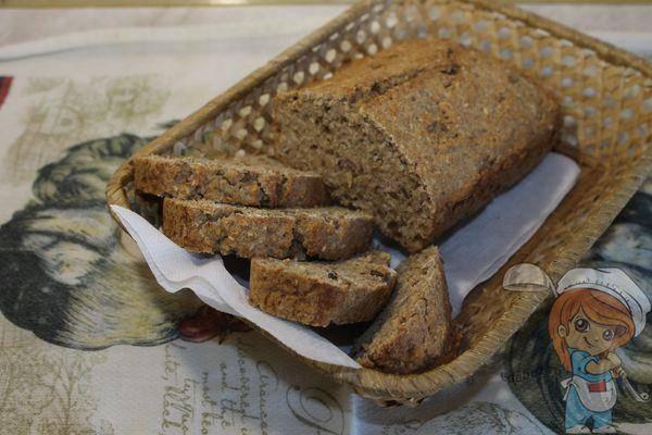 Сладкий ржано-пшеничный хлеб с сухофруктами