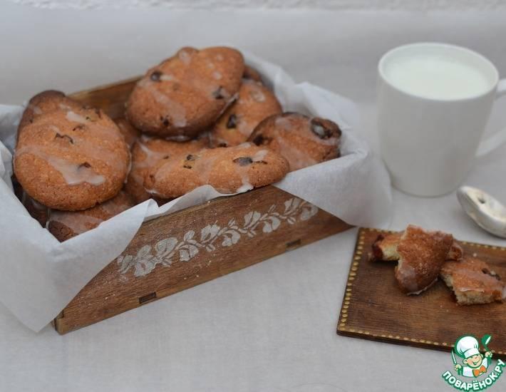Творожное печенье с клюквой