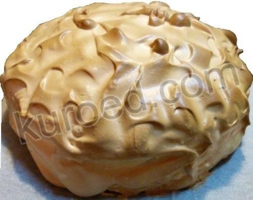 Тыквенный кекс с мороженым и шоколадом