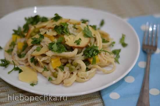 Макароны с овощами - пошаговые рецепты приготовления в сковороде или духовке