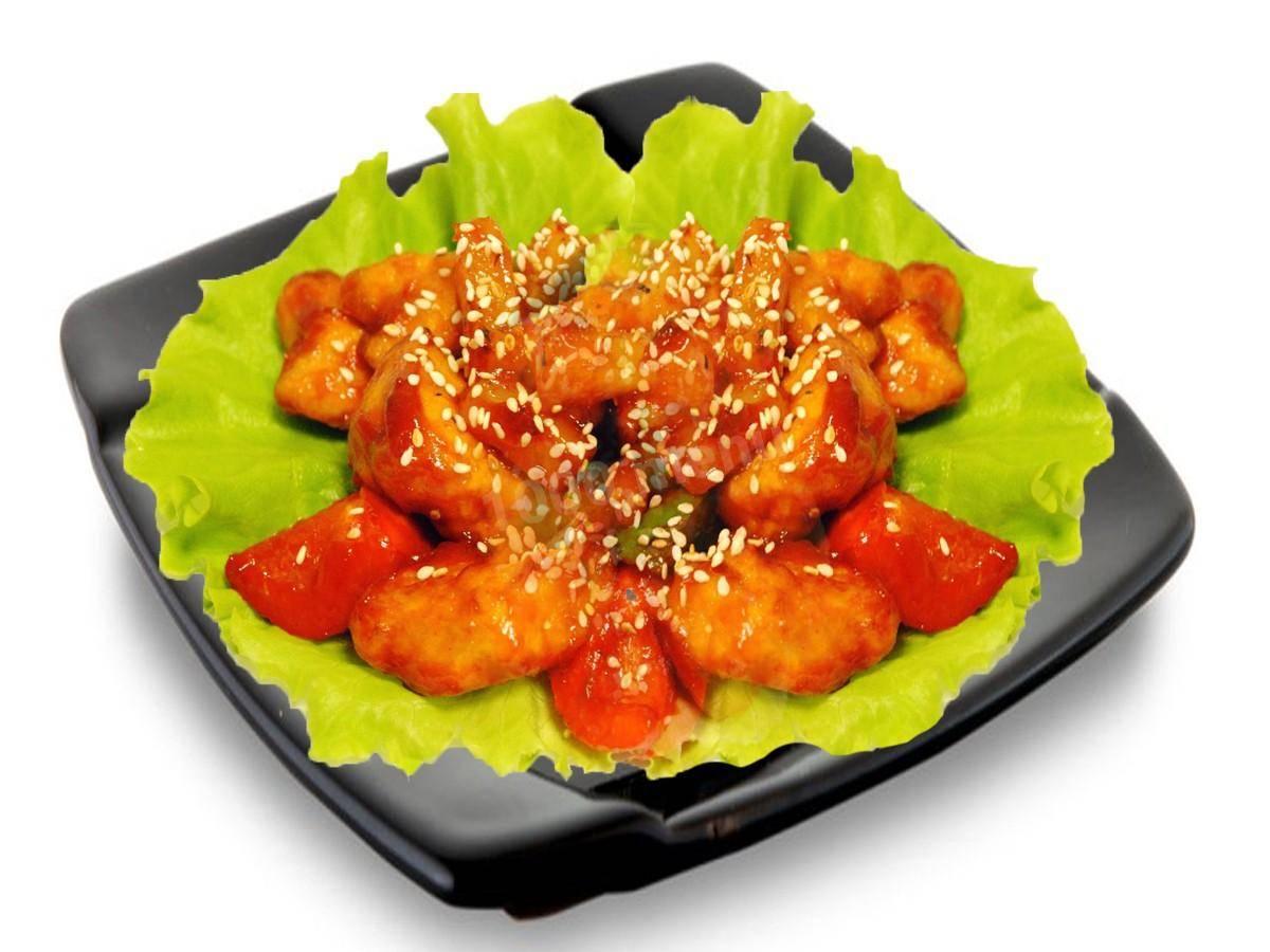 Курица в кисло сладком соусе с ананасом, медом и овощами - рецепты по-тайски и по-пекински