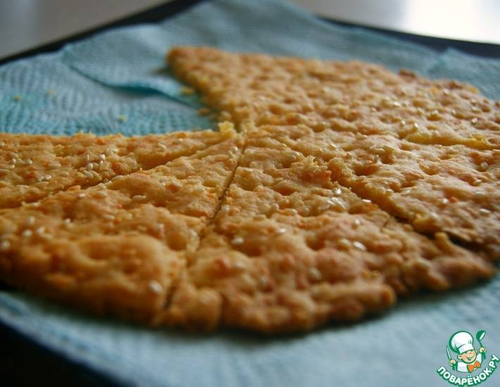 Сырные крекеры, рецепт с фото пошагово