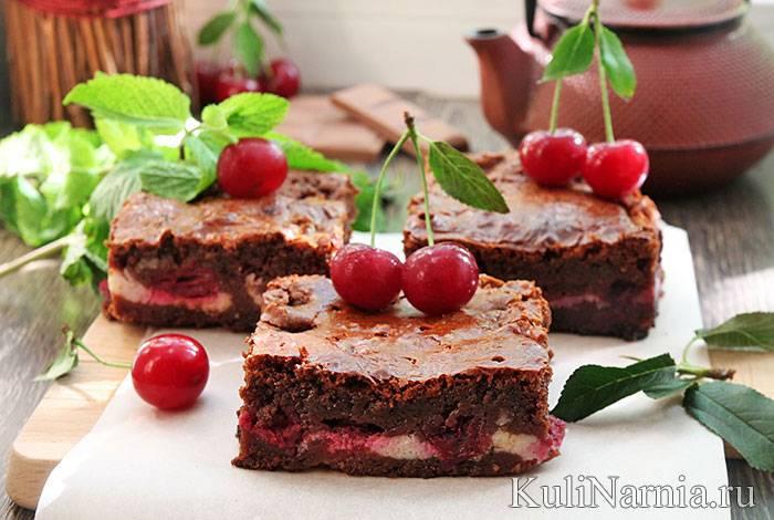 """Пирог """"венский"""" с вишней и шоколадом"""