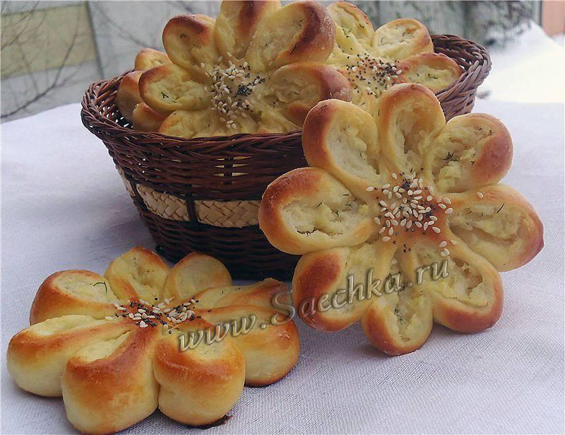 Картофельные корзиночки с начинкой «цветочки»