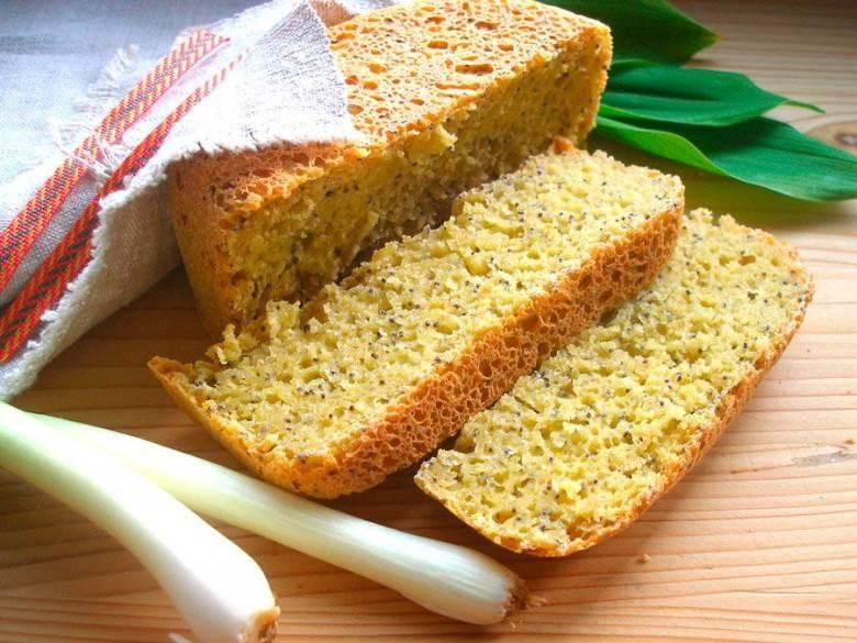 Кукурузный хлеб без пшеничной муки в хлебопечке рецепт