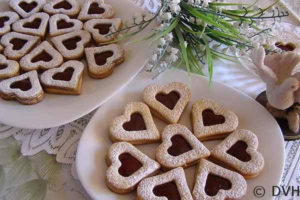 Печенье в форме сердечек: рецепт и фото