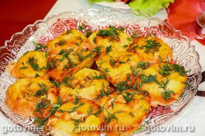 Рулеты из лаваша с картофелем и грибами