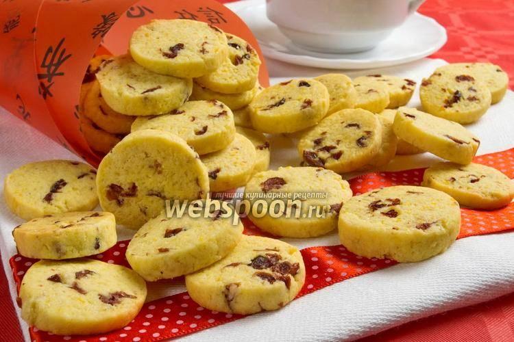 Воздушное печенье с клюквой