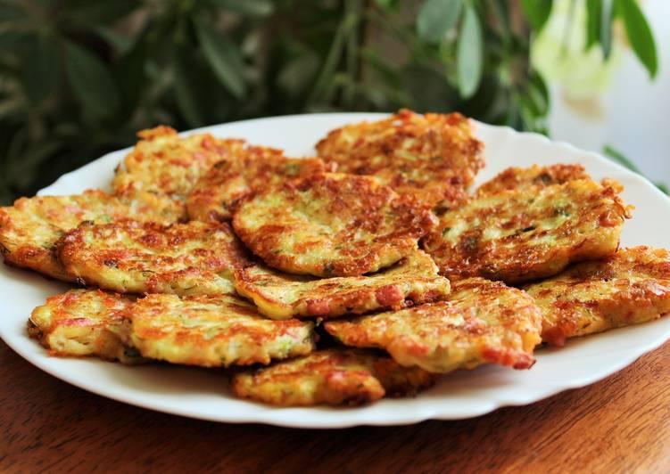 Кабачковые оладьи с ветчиной и грибами - рецепт с фотографиями - patee. рецепты