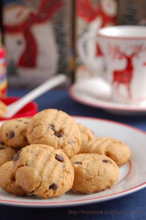 Американское печенье с арахисовой пастой