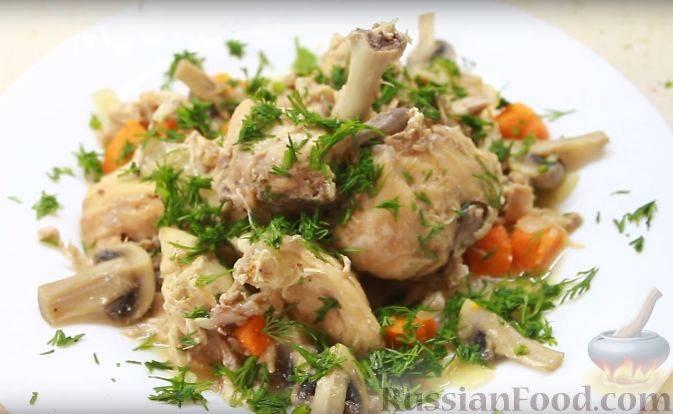 Кролик с грибами - пошаговый рецепт с фото |  разное