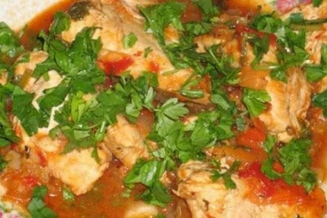 Пошаговый рецепт приготовления чахохбили из курицы в мультиварке