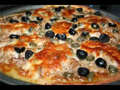 Пицца на ржаном тесте с жареной курицей