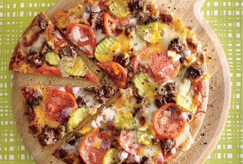Быстрая пицца на сковороде-гриль