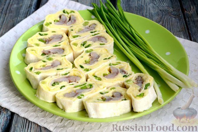 Картофельные рулетики в лаваше