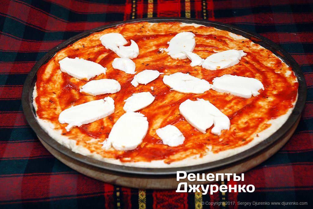Пицца с мидиями и креветками