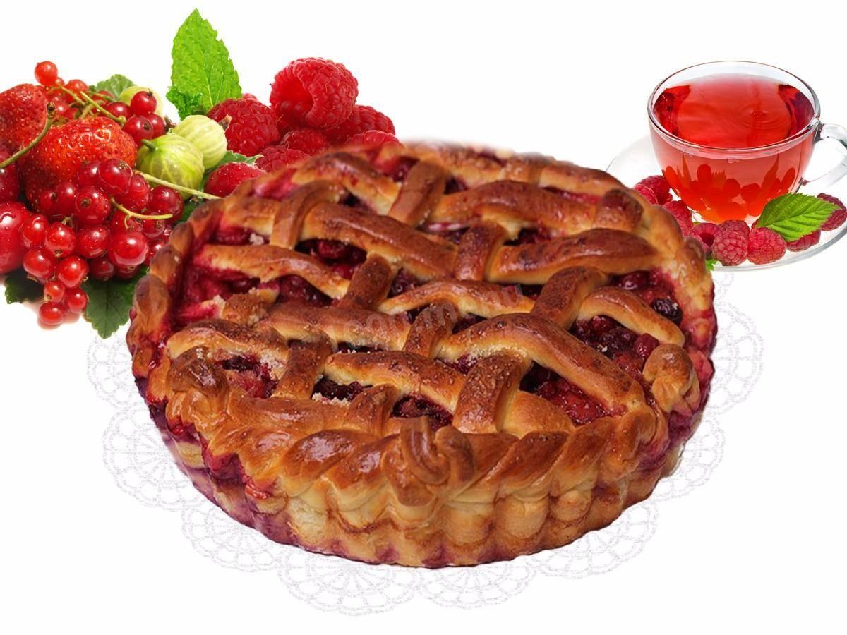 Пирог с замороженными ягодами: рецепт и фото