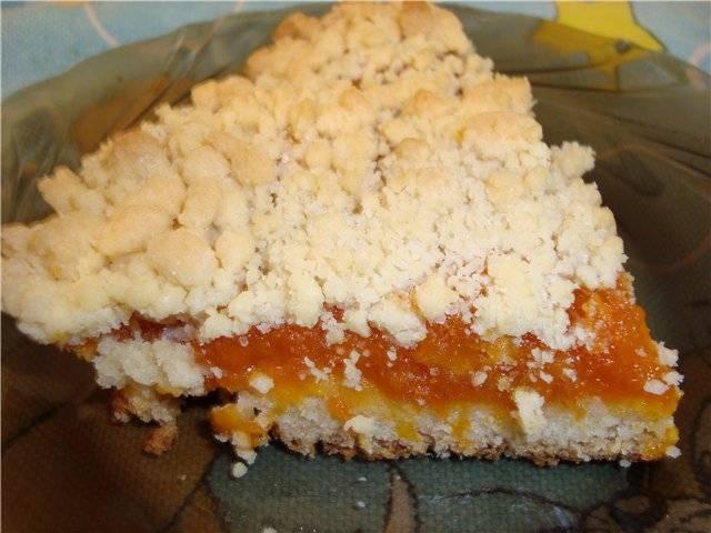 Вкусный пирог с курагой